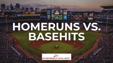Home runs vs base hits